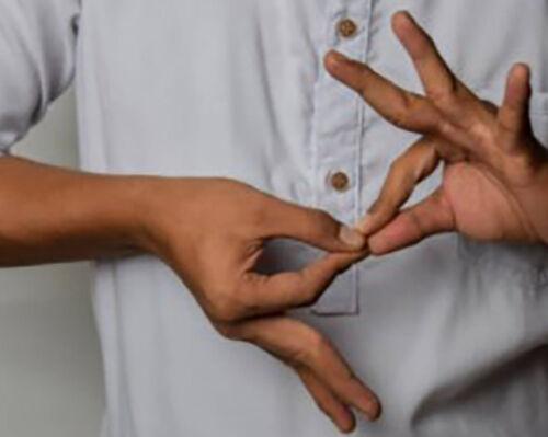 twee handen spreken gebarentaal